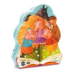 Puzzle Les trois petits cochons 24 pièces - Djeco