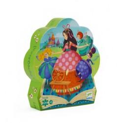 Puzzle Silhouette Belle aux Bois Dormant 24 Pièces - Djeco