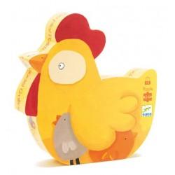 Puzzle Cot cot ! poulette 24 pièces - Djeco