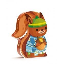Puzzle Le goûter de l'écureuil  24 pièces - Djeco