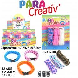 Bracelet Paracorde à Créer 3 Pièces avec Fermoir