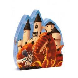 Puzzle Le château au dragon 54 Pièces - Djeco