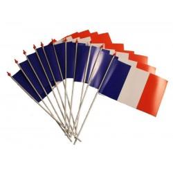Drapeau Plastique France avec Bâton