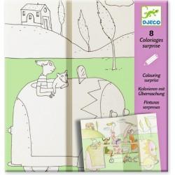 Coloriages surprise - Cache Cache - Djeco