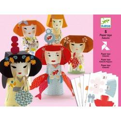 Paper Toys - Kokeshis - Djeco