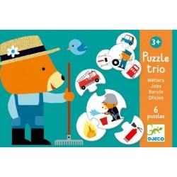 Puzzle Trio Les Métiers - Djeco