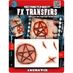 Blessure 3D Etoile Satanique Transfert à l'Eauu