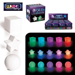 Lampe d'Ambiance Forme Lumineuse Cube, Etoile ou Boule