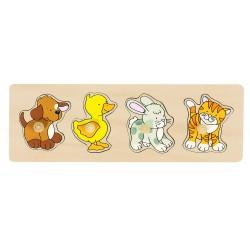 Puzzle à encastrements Animaux familiers - Goki