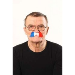 Moustache Bleu Blanc Rouge France