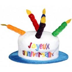 Chapeau Bougie Joyeux Anniversaire