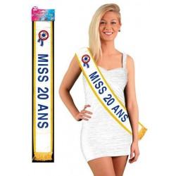Echarpe de Miss 20 Ans