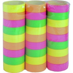 Serpentins Fluo 3 Rouleaux