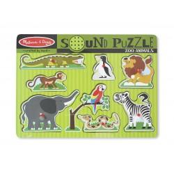 Puzzle Sonore à Encastrements  Les Animaux du Zoo - Melissa & Doug