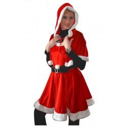 Costume de Mère Noël en Velours