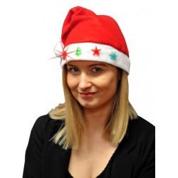 Bonnet de Noël en Feutrine Flocons, Etoiles, Sapins Lumineux