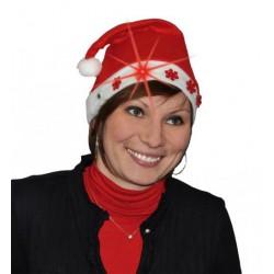 Bonnet de Noël en Feutrine Flocons Lumineux