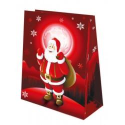 Sac à Cadeau Décoré Père Noël