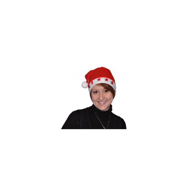 Bonnet de Noël en Feutrine Etoiles Lumineuses