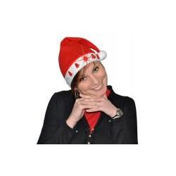 Bonnet de Noël en Feutrine 5 Sapins Lumineux