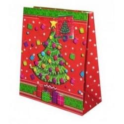 Sac à Cadeaux Petit Format Décoré Sapin de Noël