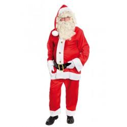 Costume de Père Noël Américain en Tissu 4 Pièces