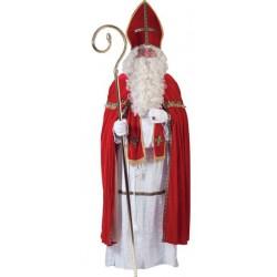 Costume de Saint Nicolas Luxe en Tissu 5 Pièces