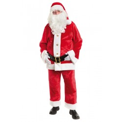Costume de Père Noël Américain en Peluche 4 Pièces