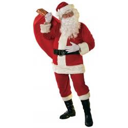 Location de Costume de Père Noël en Tissu 4 Pièces