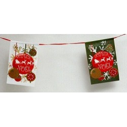 Guirlande Boules de Noël 4 Mètres Fanions Rectangulaires