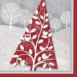 Serviette en Papier Sapin de Noël
