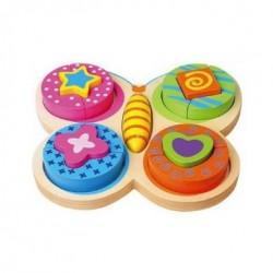 Puzzle Bloc Forme Papillon - New Classic Toys