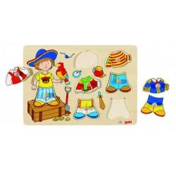 Puzzle à Habiller Petit Pirate - Goki