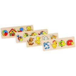 Puzzle à Encastrements 4 Pièces - Goki