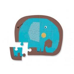 Puzzle Eléphant - 12 Pcs