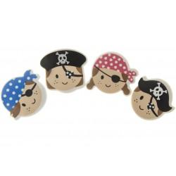 Gomme Visage Pirate