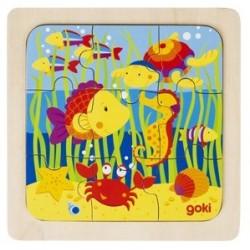 Puzzle en Bois 9 Pièces la Mer - Goki