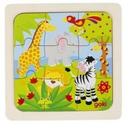 Puzzle en Bois 9 Pièces la Savane - Goki