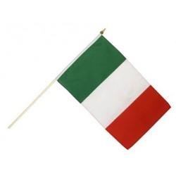 Drapeau Italie 14 x 21cm avec Bâton