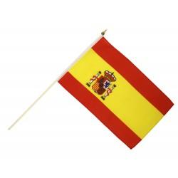 Drapeau Espagne 14 x 21cm avec Bâton