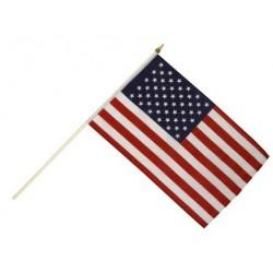 Drapeau Etats-Unis 14 x 21cm avec Bâton