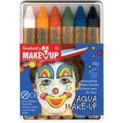 Boîte 6 Crayons de maquillage à l'eau