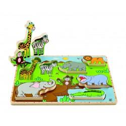 Puzzle à Encastrements Les Animaux Sauvages - Hape