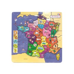 Puzzle à Encastrements Carte de France