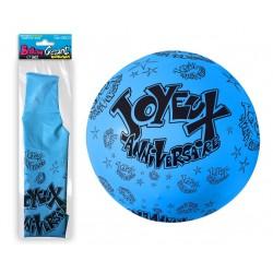 Ballon de Baudruche Géant Bleu Joyeux Anniversaire
