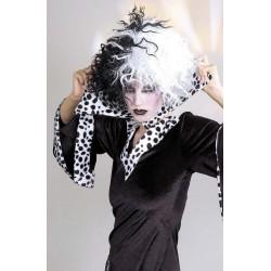 Perruque Blanche et Noire Cruella