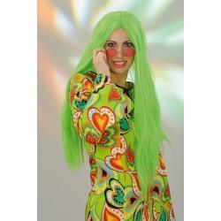 Perruque Hippie Kelly Verte Fluo