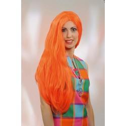 Perruque Hippie Kelly Orange Fluo