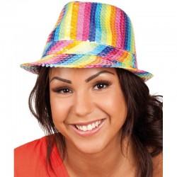 Chapeau Borsalino Sequins Multicolore