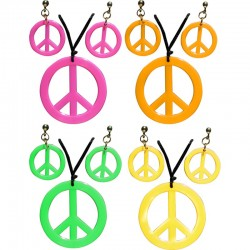Set Hippie Collier et Boucles d'Oreilles